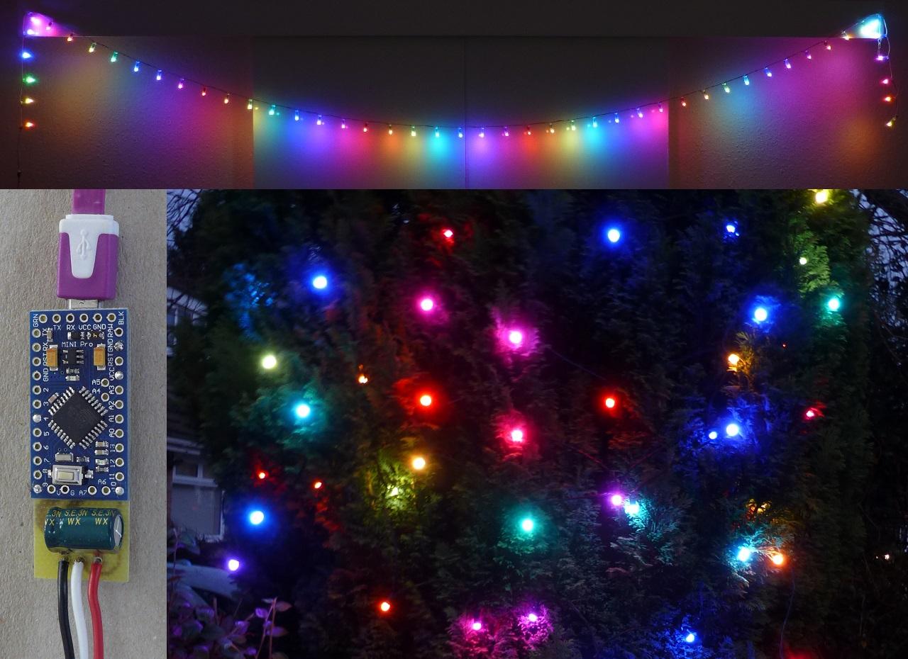 Magic Rainbow Xmas Party Lights Neopixel Arduino Christmas Led